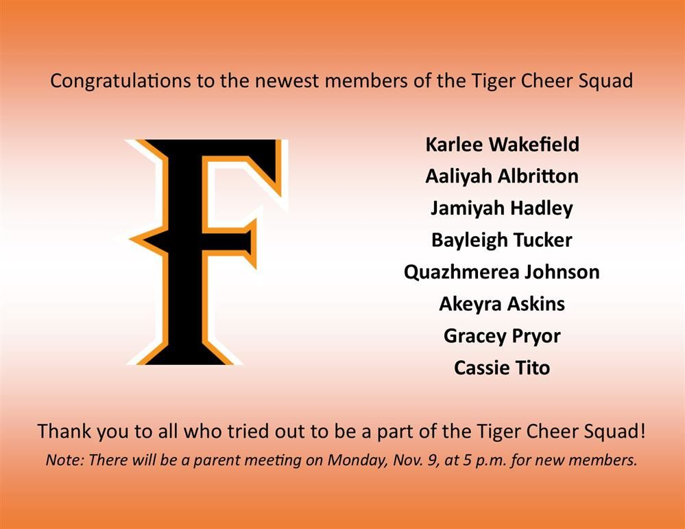congratulations to cheer squad list of names