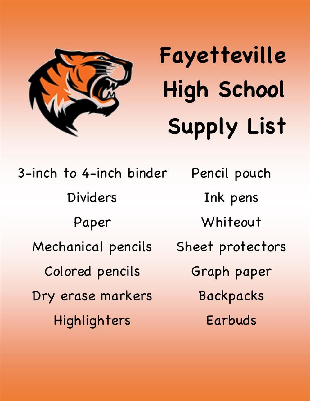 flyer for school supplies