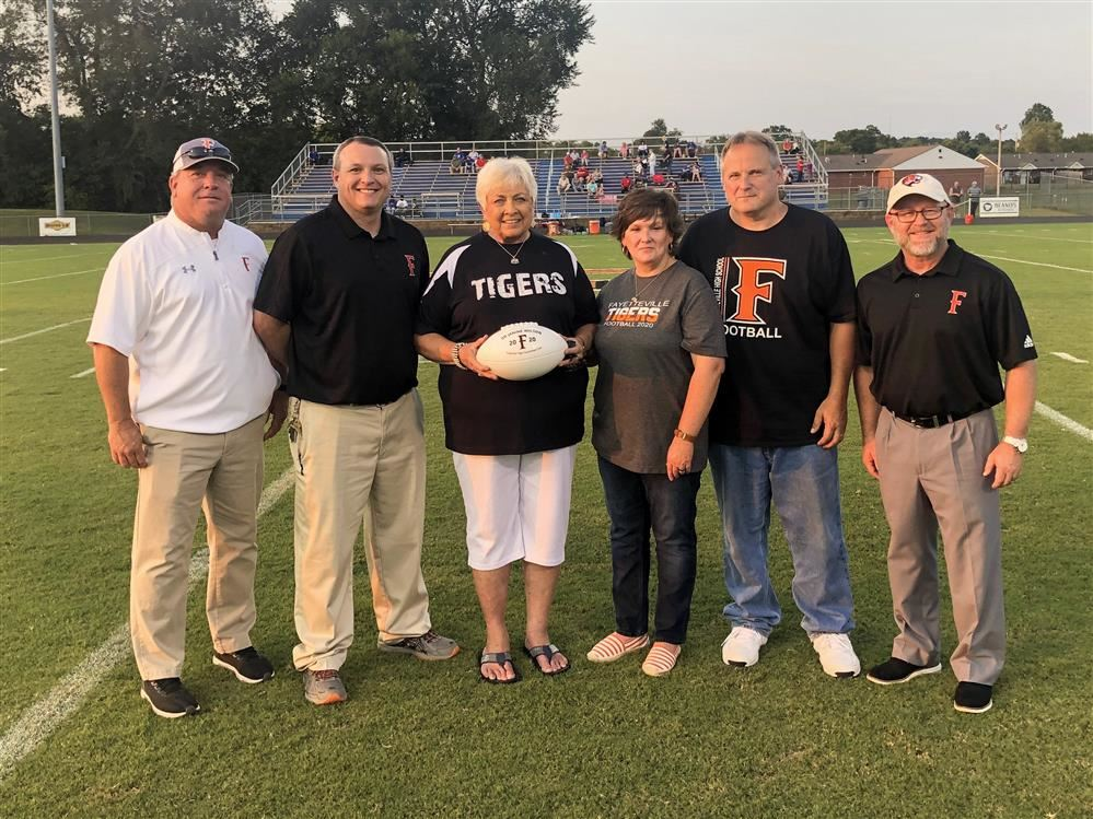 Dr. Wilson honored on the field