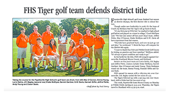 FHS Tiger golf team defends district title