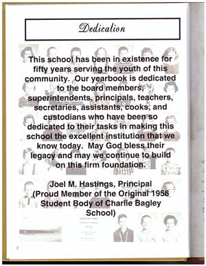 50th Anniversary Yearbook Dedication page