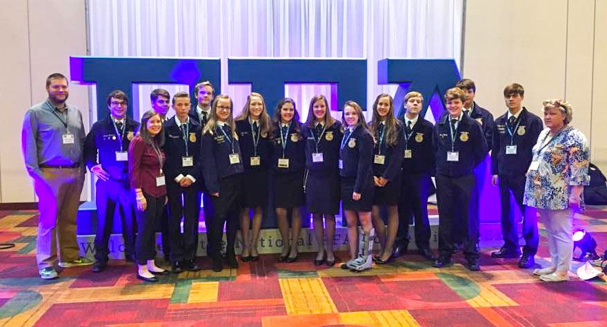 2017-2018 FFA Nationals group photo