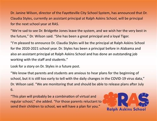 statement from Dr. Wilson on orange background