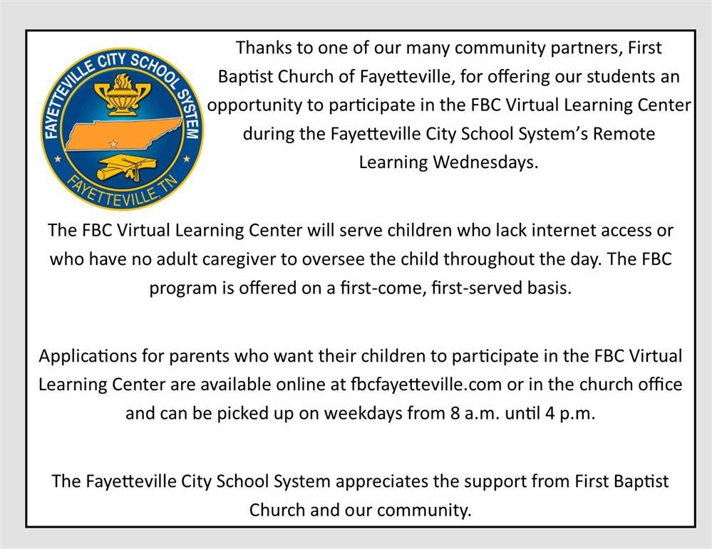 FBC offers learning center for city school students