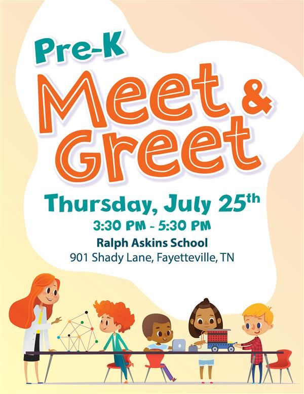 Pre-K Meet & Greet Flyer