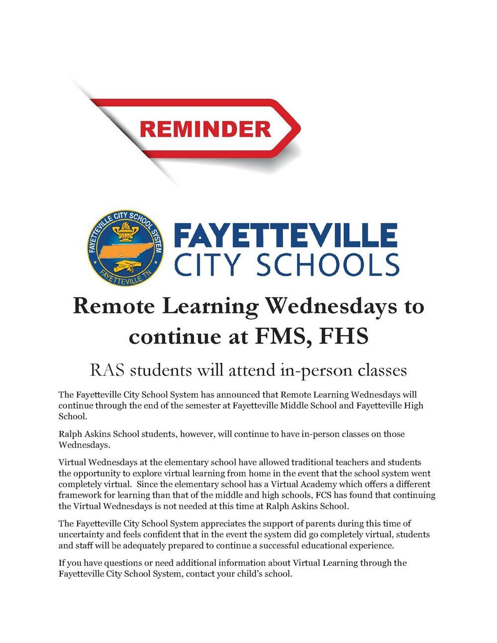 press release about remote Wednesdays