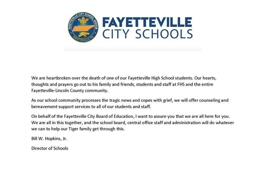 press release of Mr. Hopkins statement