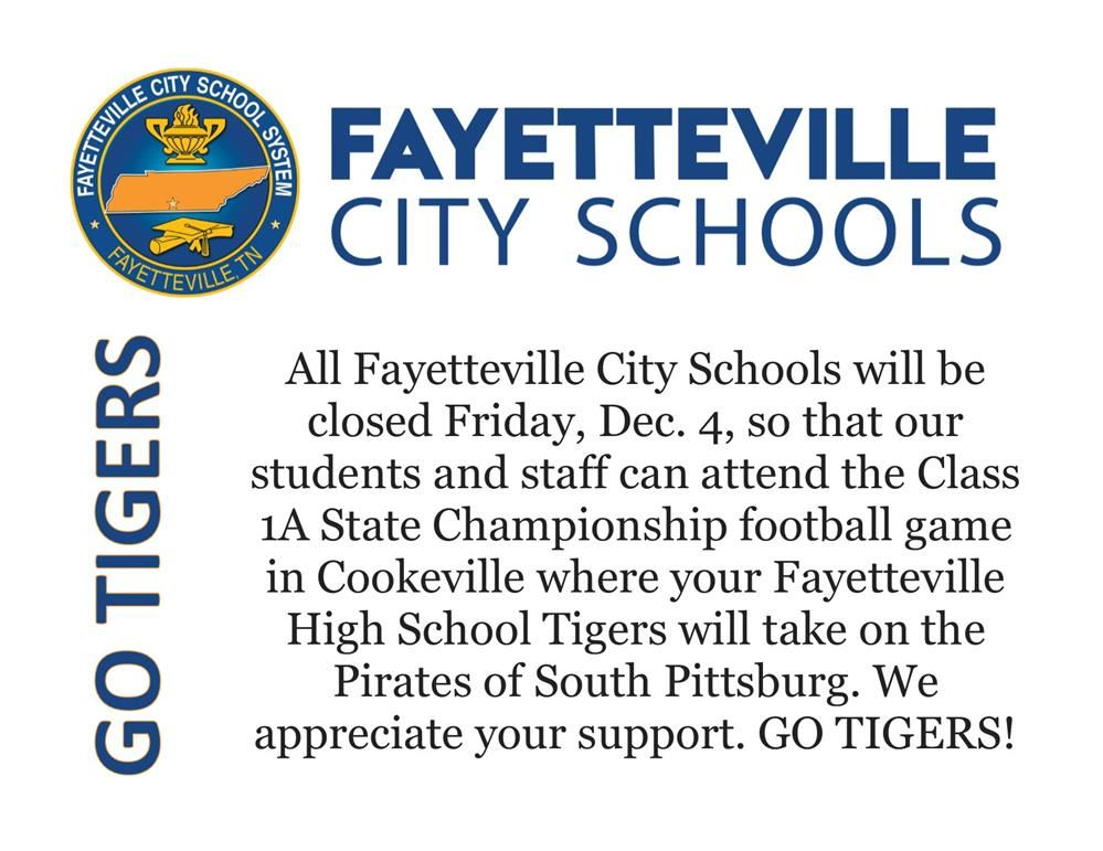 post about schools closed for championship game day