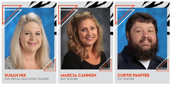 Teacher of the Year - Marcia Cannon, Susan Nix, Curtis Painter