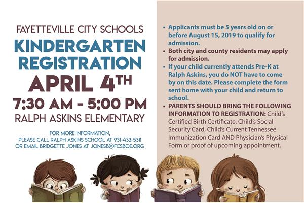 Kindergarten Registration Promo