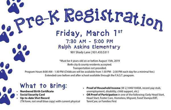PreK Registration Preview
