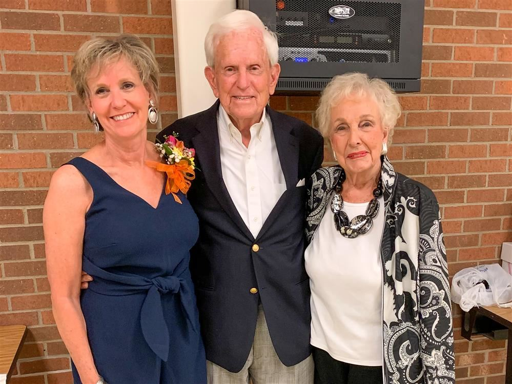 Lee Ann Dawkins pictured with Tom and Peggy Bagley