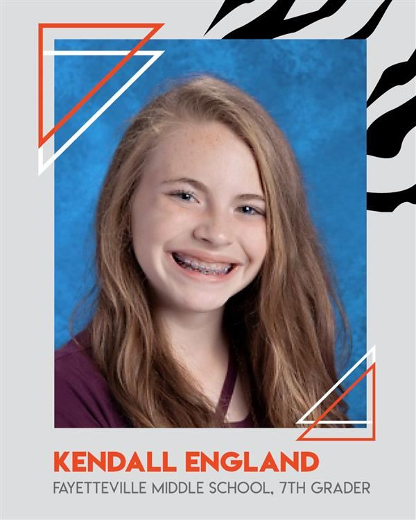 Kendall England Moves on to the State Spelling Bee