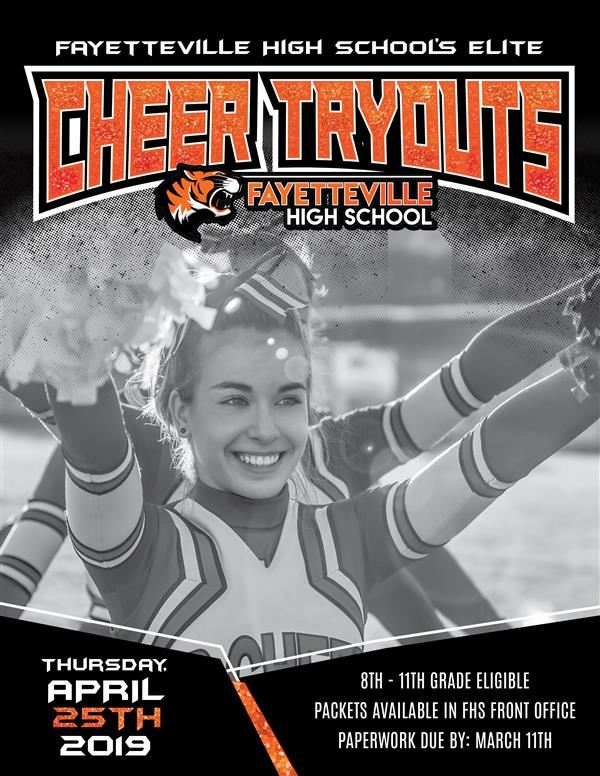 Cheer Tryouts Thumbnail Flyer