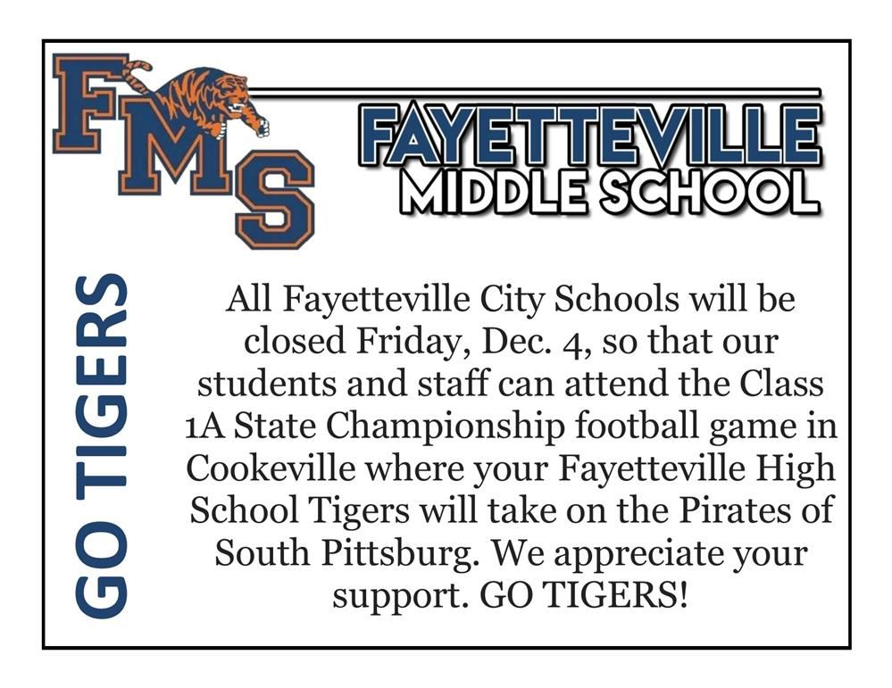 City schools closed for championship game day Friday