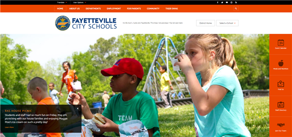 Welcome to Fayetteville City School's new website: Redesigned for improved communication and collaboration
